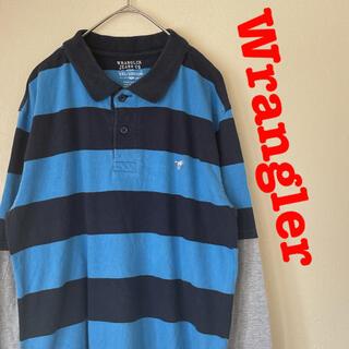 Wrangler - Wrangler ラングラー ボーダー ポロシャツ レイヤード