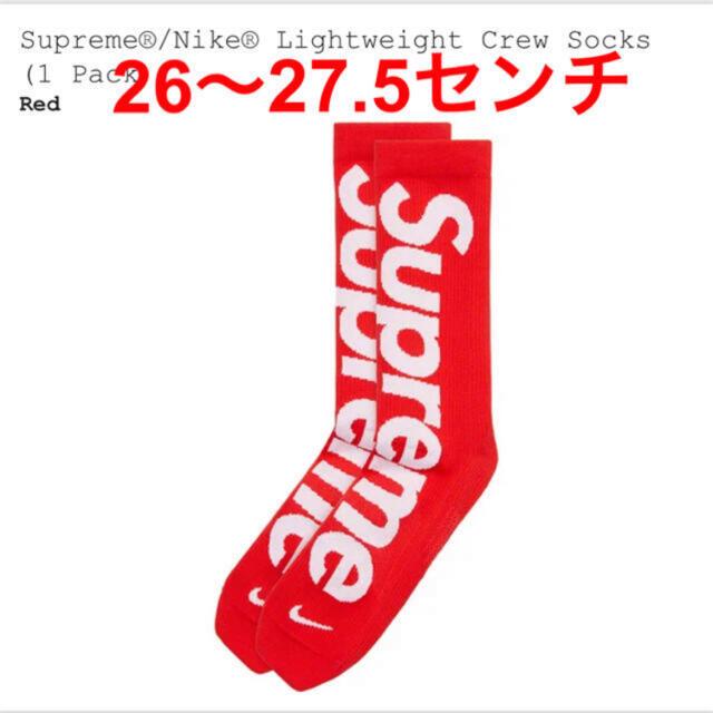 Supreme(シュプリーム)のsupreme nike socks シュプリーム  ナイキ ソックス レッド メンズのレッグウェア(ソックス)の商品写真