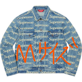 Supreme - Mサイズ Frayed Logos Denim Trucker Jacket