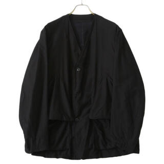 COMOLI - COMOLI 21ss コットンサテン ハンティングジャケット ブラック 3