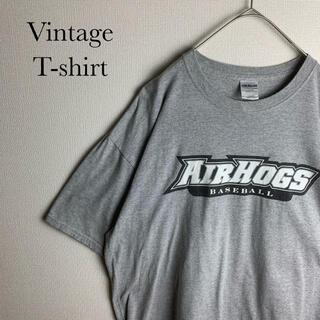 GILDAN - US ビンテージ 古着 企業 チーム ロゴ エアーホッグス 半袖 Tシャツ XL