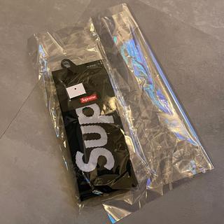 シュプリーム(Supreme)の新品未使用 supreme ソックス 26-27.5cm ブラック(ソックス)