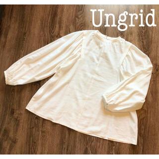 Ungrid - 【試着のみ】アングリッド ボリュームブラウス タックブラウス