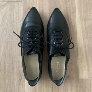 ピッティ(Pitti)の【値下げ】Pitti オックスフォードシューズ 黒 革靴(ローファー/革靴)
