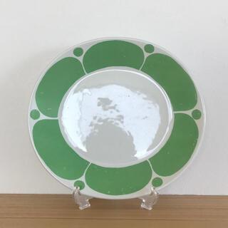 アラビア(ARABIA)の【オリジナル】ARABIA スンヌンタイ 23cmオーバルプレート① グリーン(食器)