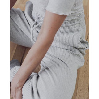 BASERANGE  SWEAT PANTS - RIB リブパンツ