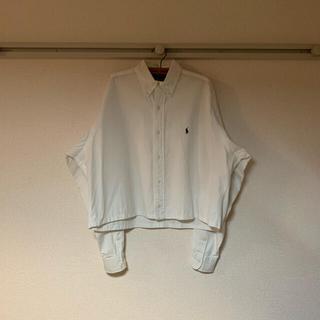 Ralph Lauren - 【Ralph Lauren】白シャツ ホワイト ボタンダウン 変形 短丈