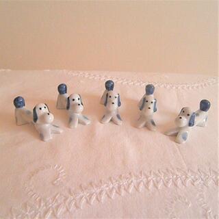 5匹 ダックスフンド はし置き はしおき 犬 イヌ 陶器(カトラリー/箸)