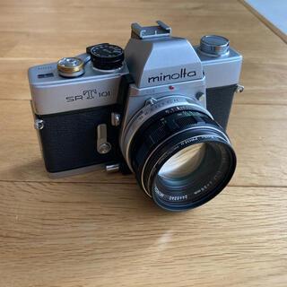 コニカミノルタ(KONICA MINOLTA)のミノルタ SRT101 & MC ROKKOR-PF 1:1.7 f=55mm(フィルムカメラ)
