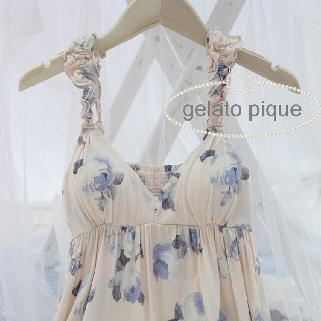 gelato pique(ジェラートピケ)の再入荷❤︎gelato pique ルームウェアドレス(ピンク) レディースのルームウェア/パジャマ(ルームウェア)の商品写真