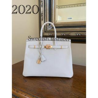 エルメス(Hermes)のクレ・ローズゴールド金具・未使用同様・2020年製バーキン35(ハンドバッグ)
