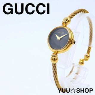 グッチ(Gucci)の大人気【電池新品】GUCCI グッチ 2700.2L 腕時計 ブラック ゴールド(腕時計)