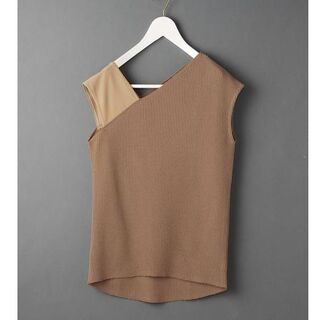 BEAUTY&YOUTH UNITED ARROWS - 6(ROKU) THERMAL ONE SHOULDER ベージュ