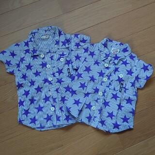 ジャンクストアー(JUNK STORE)のジャンクストアー 90 100 兄弟 お揃い シャツ ブラウス 羽織 星 紫(ブラウス)