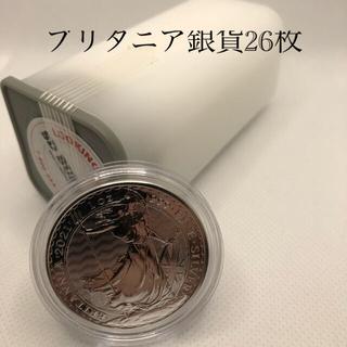 【26枚ミントロール入り】2021年ブリタニア銀貨 1オンス純銀 資産保全用(貨幣)
