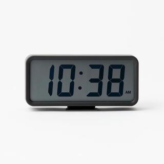 MUJI (無印良品) - 限定価格!新品★無印良品 ★デジタル時計・中 ブラック MUJI 置時計√♭★