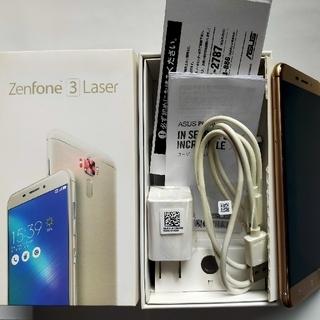 ASUS - Zenfone 3 laser ゴールド 本体不具合なし