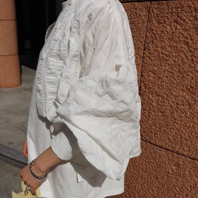 Drawer(ドゥロワー)のMACHATT マチャット シャツボレロ ホワイト☆トップス レディースのトップス(カーディガン)の商品写真