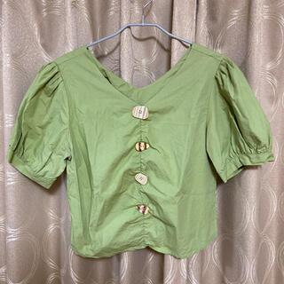 スタイルナンダ(STYLENANDA)のボタン付きブラウス(シャツ/ブラウス(半袖/袖なし))