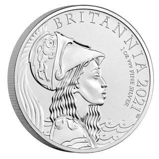 【7500枚限定】2021年 イギリス ブリタニア 1oz 銀貨 ロイヤルミント(貨幣)
