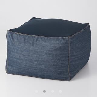 ムジルシリョウヒン(MUJI (無印良品))の無印良品 体にフィットするソファカバー 綿デニムネイビー(ソファカバー)