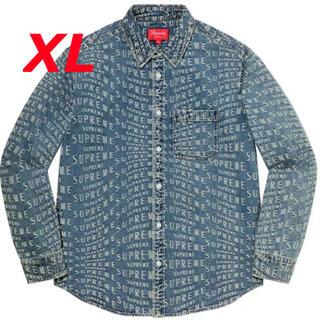 Supreme - Supreme Warp Jacquard Logos Denim Shirt