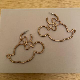 ディズニー(Disney)のミニーマウス フープピアス(ピアス)