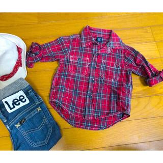 ベビーギャップ(babyGAP)のbabyGap 薄手 長袖シャツ 18-24mo  90cm  (ブラウス)