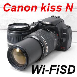 キヤノン(Canon)の❤️望遠レンズ付き❤️スマホ転送❤️Canon kiss N(デジタル一眼)