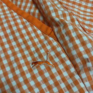 プーマ(PUMA)のPUMA   オレンジチェック メンズハーフパンツ L size(ウエア)