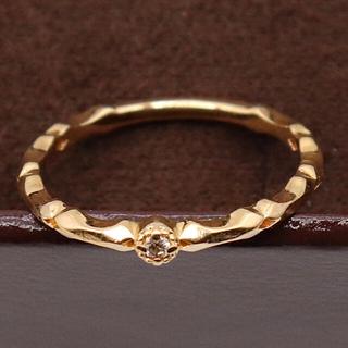アガット(agete)のアガット ピンキーリング ダイヤ k18 シャイン(リング(指輪))