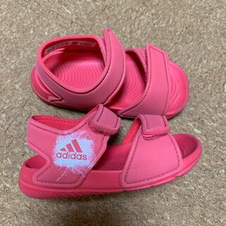 アディダス(adidas)のアディダス サンダル コーラルピンク 13.0cm(サンダル)