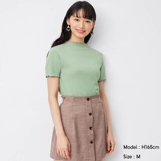 ジーユー(GU)の今期 GU ジーユー リブメローコンパクトT Tシャツ UNIQLO(Tシャツ(半袖/袖なし))