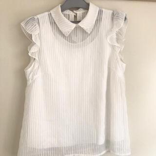 ルーデルー(Rew de Rew)のRew de rew 襟ビーズシフォントップス(シャツ/ブラウス(半袖/袖なし))