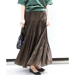IENA - 最安値!セール!新品タグ付き!人気!IENA コットンボイルティアードスカート