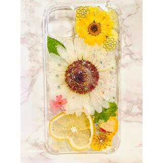 iPhoneケース、iPhoneカバー、押し花ケース、スマホケース、押しフルーツ