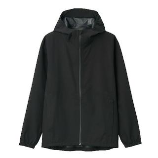 MUJI (無印良品) - ☆新品☆ 透湿 撥水防水テープ使いフードジャケット 紳士/黒/L