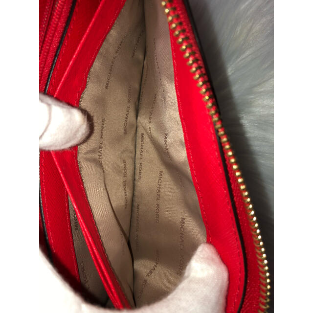 Michael Kors(マイケルコース)のマイケルコース 長財布 レッド ☆超美品☆ レディース レディースのファッション小物(財布)の商品写真
