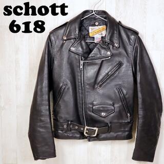 schott - ショット schott ダブルライダース レザージャケット型番618革ジャン