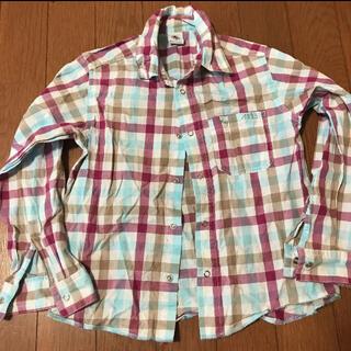 プチバトー(PETIT BATEAU)のチェックシャツ ネルシャツ 114(ブラウス)