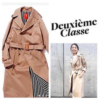 ドゥーズィエムクラス(DEUXIEME CLASSE)の超美品◆Deuxieme Classeギャバトレンチコート◆サイズ32(トレンチコート)