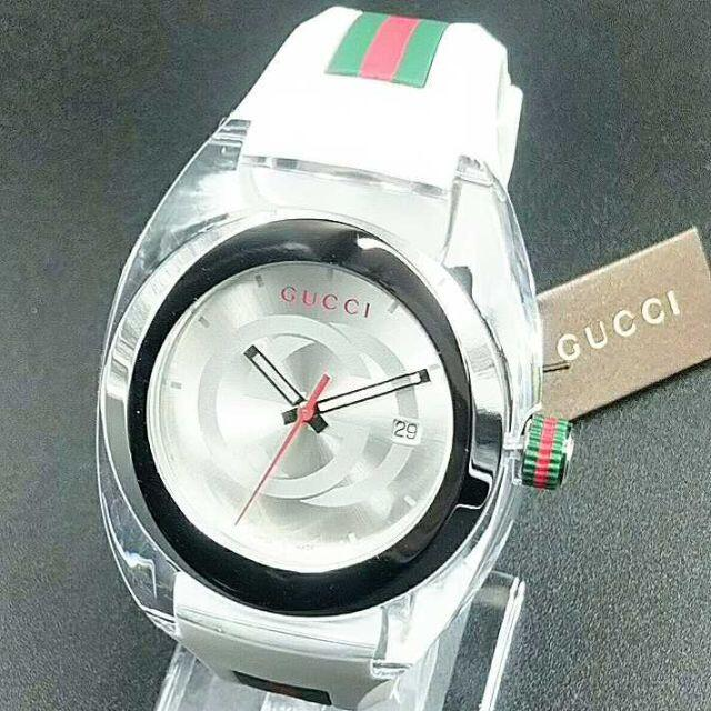 Gucci(グッチ)の新品・大人気!GUCCI WATCH SYNCグッチ腕時計ホワイト☆ユニセックス メンズの時計(ラバーベルト)の商品写真