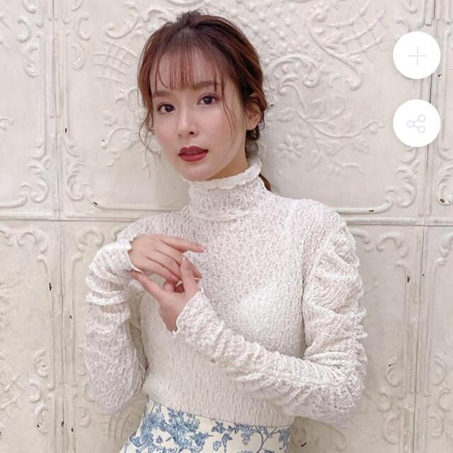 Lily Brown(リリーブラウン)のメゾンマーブル  Lacy Sweet Tops レディースのトップス(シャツ/ブラウス(長袖/七分))の商品写真