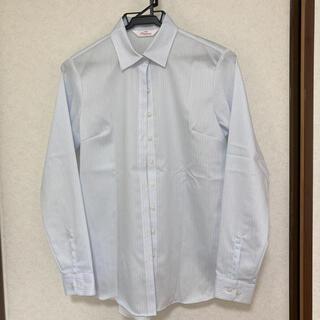 アオヤマ(青山)の10 ストライプシャツ ブラウス オフィスカジュアル スーツ ボタンダウン(シャツ/ブラウス(長袖/七分))