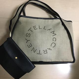 Stella McCartney - ステラマッカートニー ベージュ リネン トートバッグ