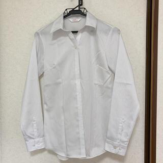 アオヤマ(青山)の11 ストライプシャツ ブラウス オフィスカジュアル スーツ(シャツ/ブラウス(長袖/七分))