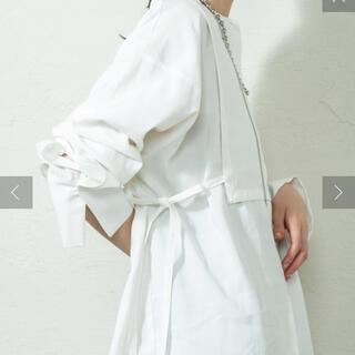 mystic - mystic ミスティック レイヤードデザインシャツ 白 ホワイト