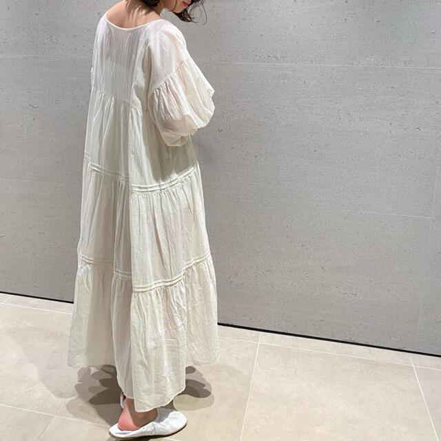 gelato pique(ジェラートピケ)のコットンシフォン ギャザー ドレス ワンピース◆ジェラートピケ 新品未使用 レディースのルームウェア/パジャマ(ルームウェア)の商品写真