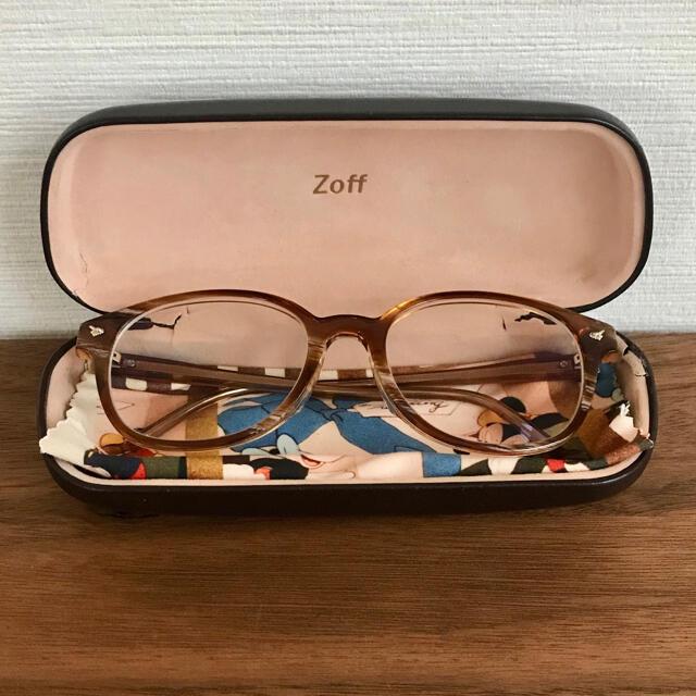 Zoff(ゾフ)のZoff ディズニー コラボ ボストン型 メガネ ケース クロス 付き レディースのファッション小物(サングラス/メガネ)の商品写真