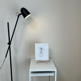 ザラホーム(ZARA HOME)の1点もの 手描き アートパネル ワイヤーアート付(絵画/タペストリー)